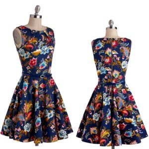 Closet London Luck Be a Lady Dress in Potpourri